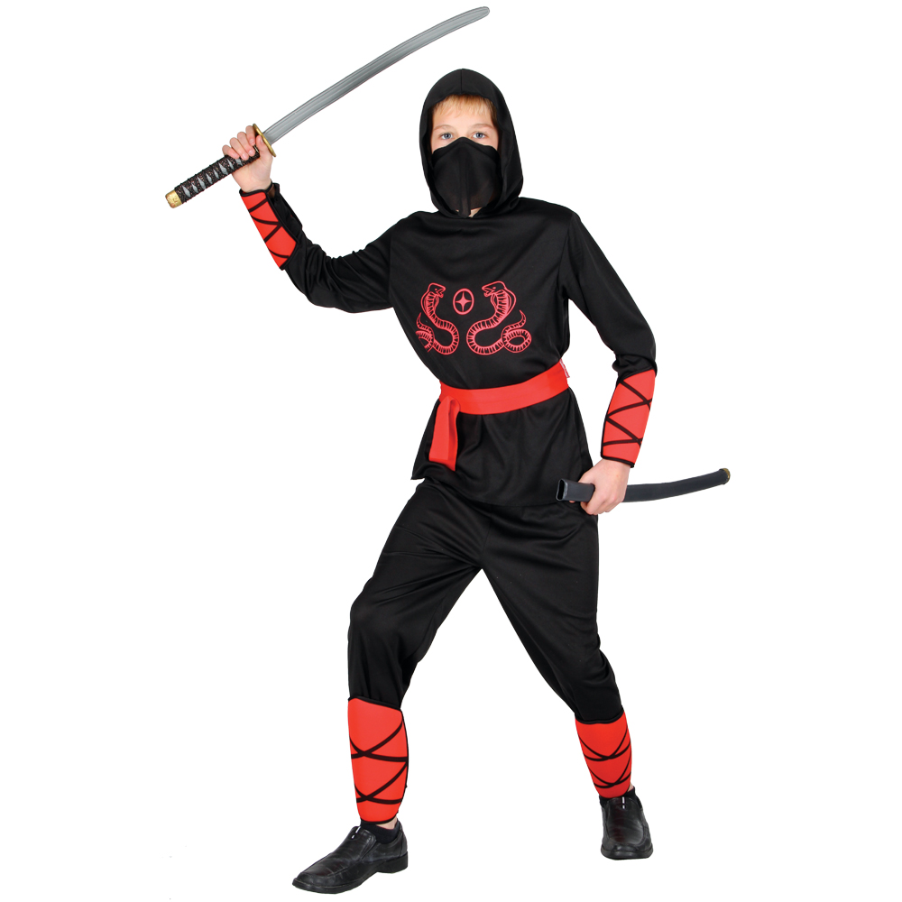 New-Ninja-Warrior-Martial-Arts-Master-Boys-Teen-Fancy-Dress-Halloween-Costume
