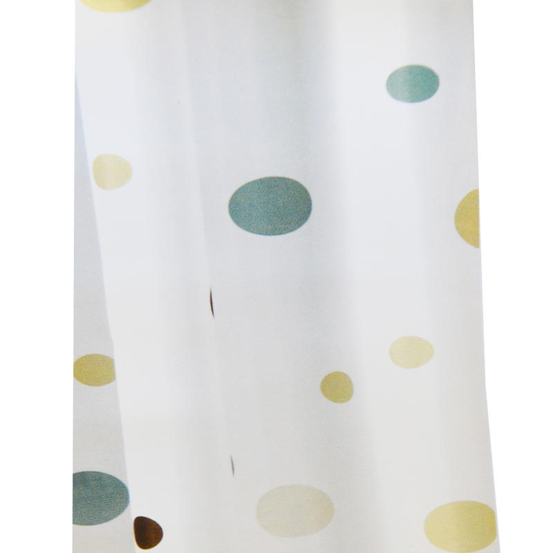 Croydex Modern Dots Water Resistant Eyelet Textile Shower