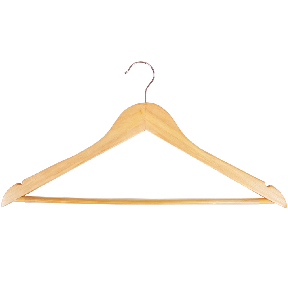 Wooden Hangers 24 Pack Natural Colour Swivel Hook Head Adult Size Coat Hangers