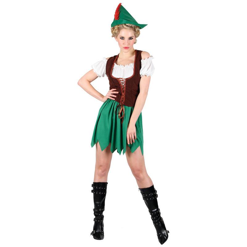 Ladies Robin Hood Budget Fancy Dress Halloween Costume  sc 1 st  Meningrey & Robin Hood Fancy Dress Costume - Meningrey