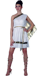 Greek Goddess Athena Aphrodite Ladies Sexy Fancy Dress Costume Thumbnail 2
