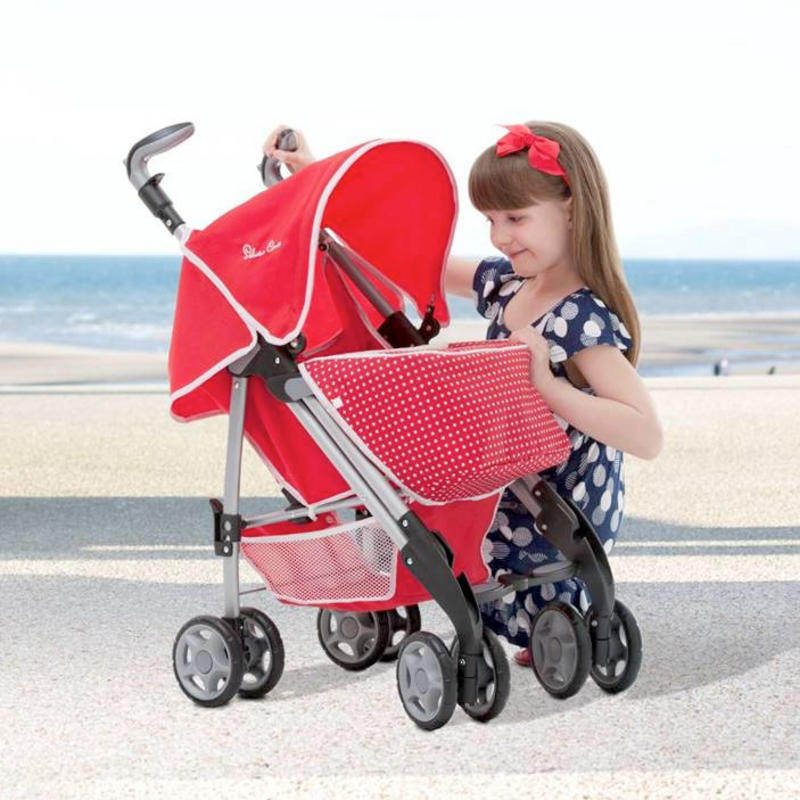Silver cross 3d push chair poppy red toy kids girls baby dolls pram