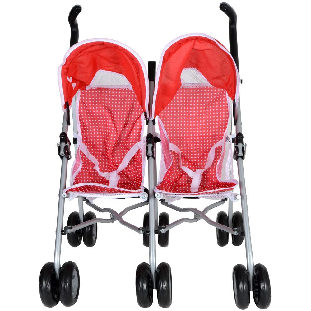 Toys For Strollers : Silver cross pop duo twin poppy toy dolls pram stroller ebay