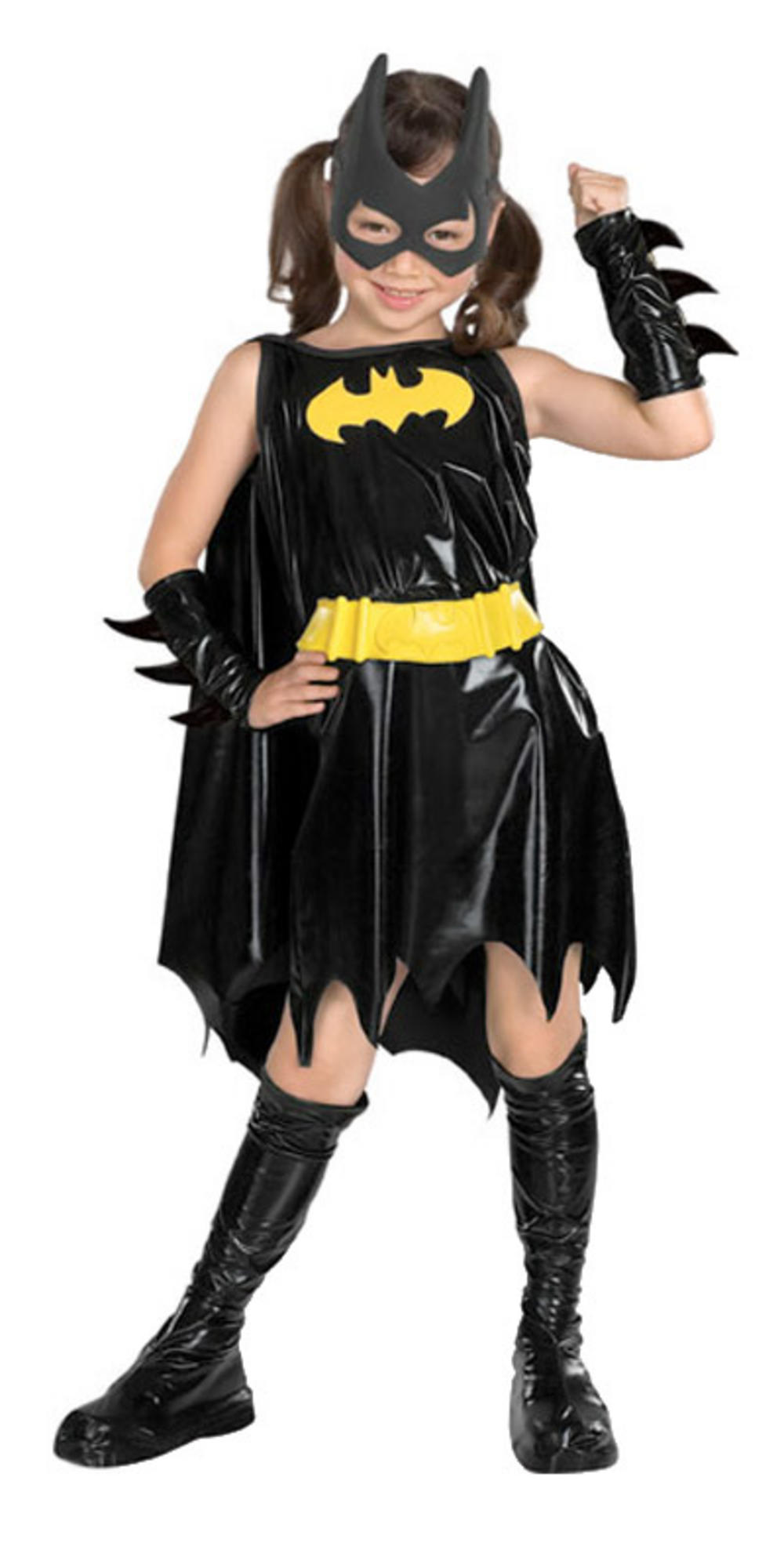 Official Batgirl Fancy Dress Outfit For Girls Halloween Costume