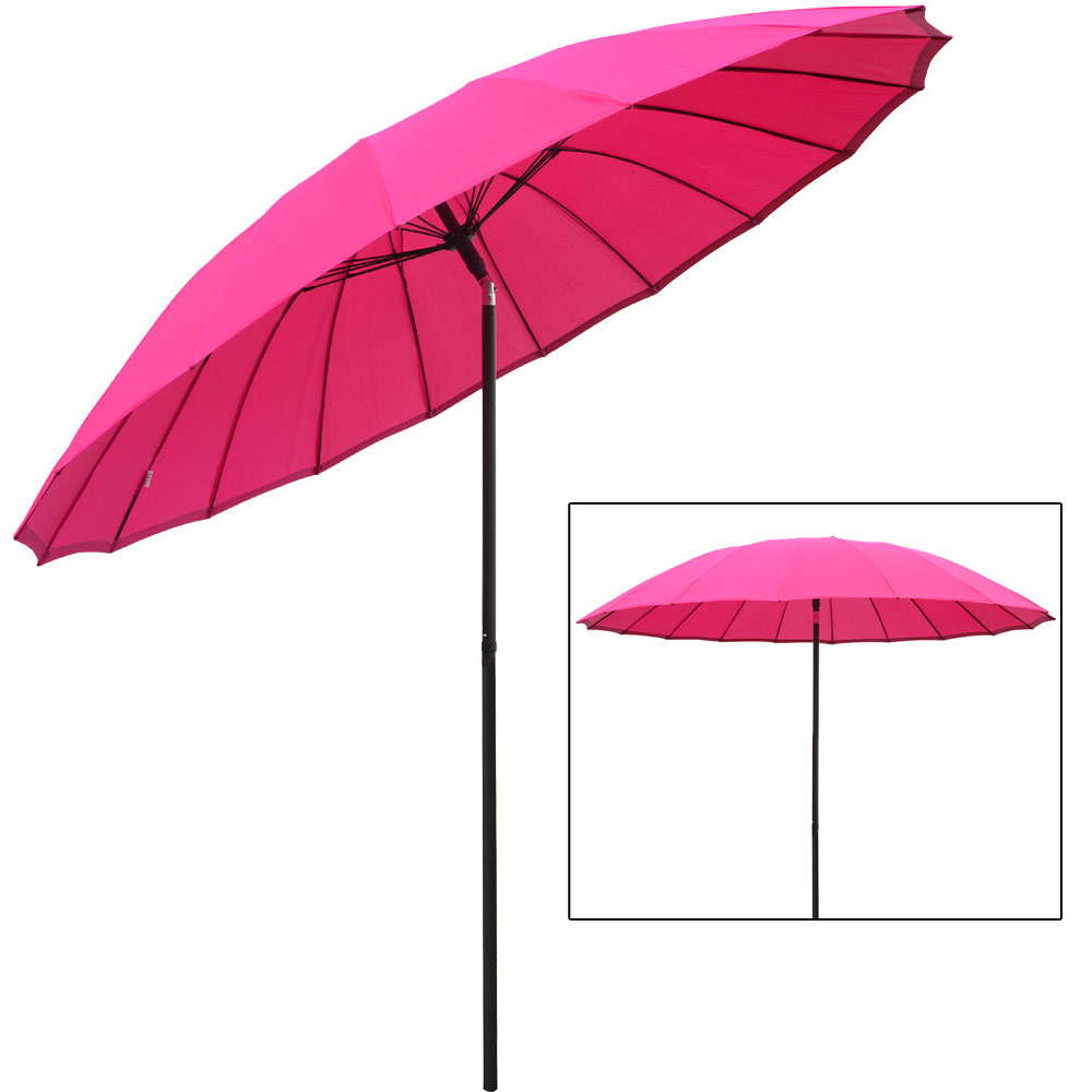 New 2 5m Tilting Shanghai Parasol Umbrella Sun Shade For