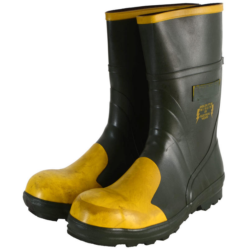 seconds green yellow steel toe electrical hazard safety
