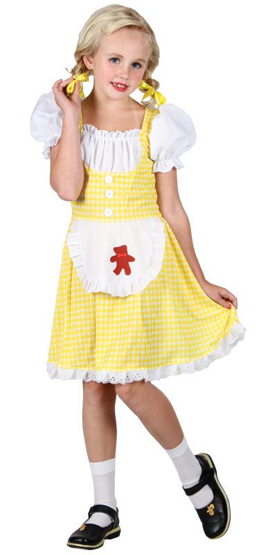 Girls Goldilocks Fancy Dress Costumes