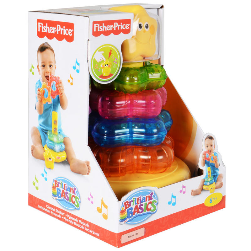 Fisher-Price Brilliant Basics Classical Stacker Musical ...
