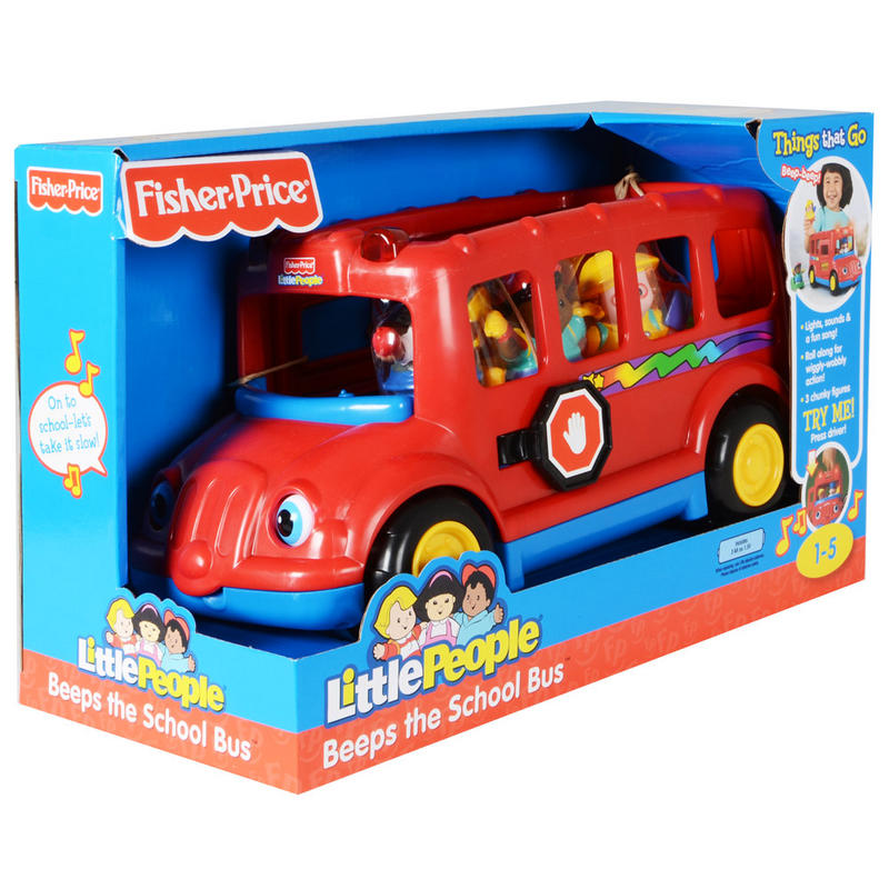 Toys R Us Childrens Chairs Fisher Price Little People Beeps The School Bus Lights Sounds Chunky ...