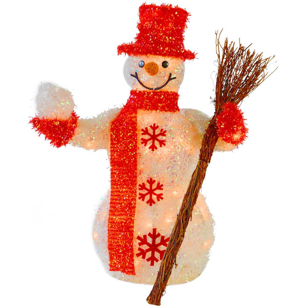 Light Up Parcels Christmas Decorations Argos: 60cm Light Up Snowman Indoor Christmas Decoration New
