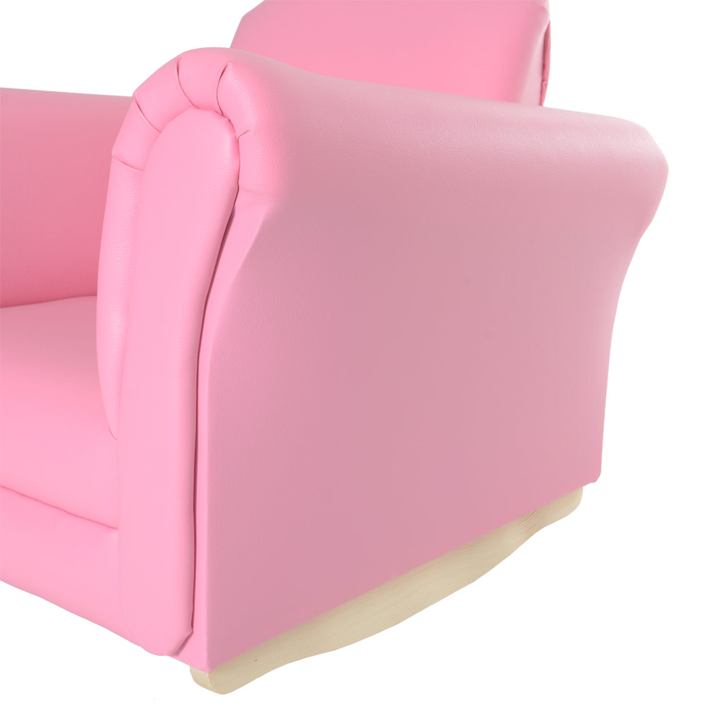 Kids pu leather look armchair sofa chair seat footstool for Childrens armchair and footstool