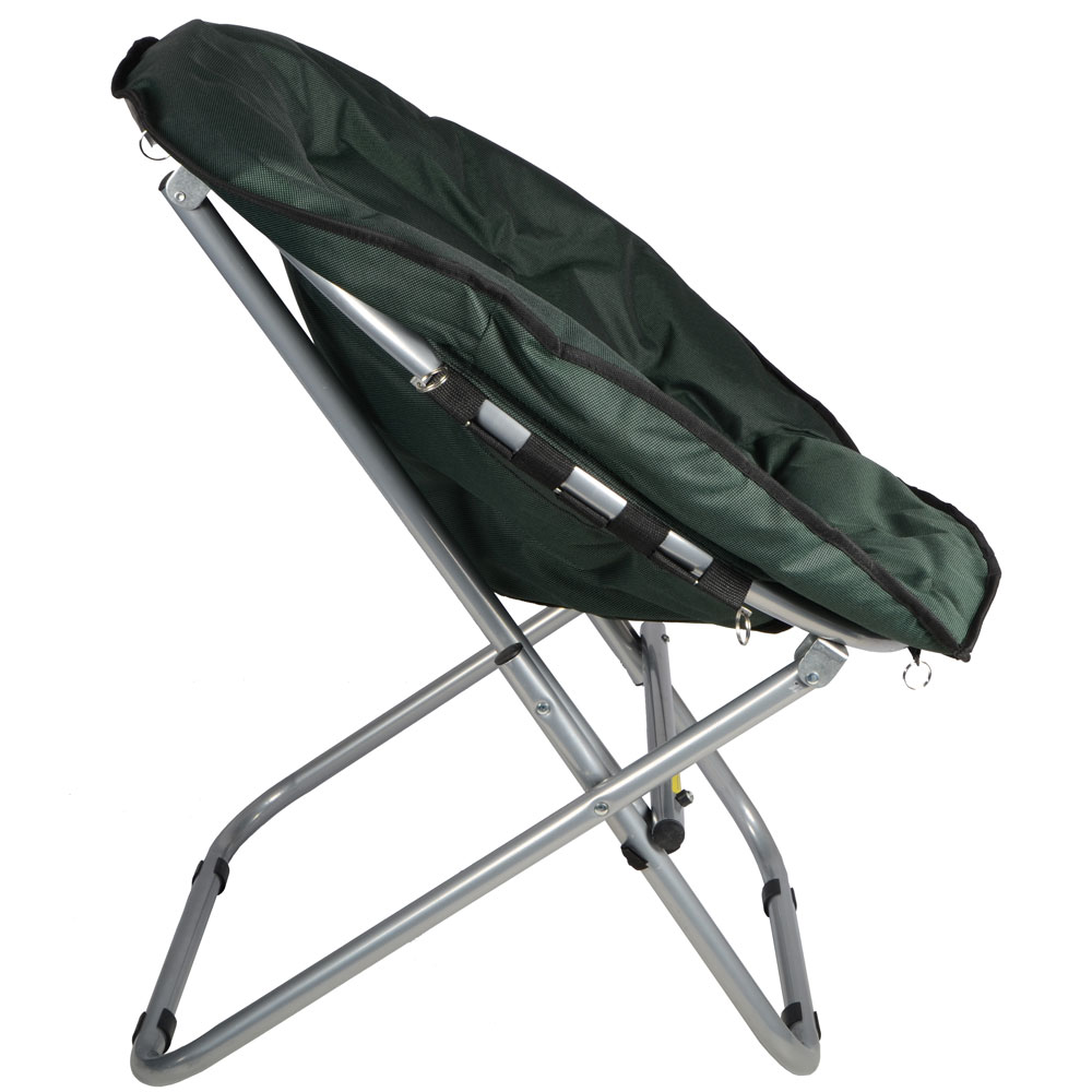 Azuma Folding Padded Moon Chair Ideal For Camping Caravaning & Outdoors