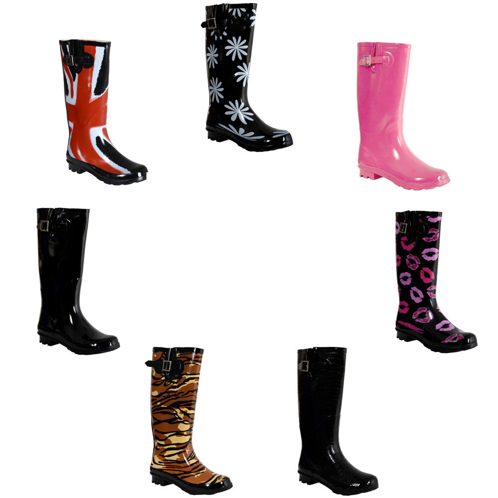 MEGA SALE Ladies Funky Festival Winter Wacky Wellies Wellington Rain Snow Boots