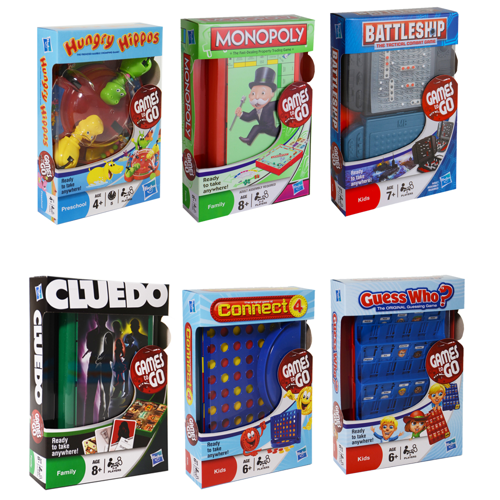 """Car Games: Hasbro MB """"Games To Go"""" Kids Family Travel Holiday Car"""
