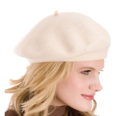 Ladies Fashionable Soft Wool Rich Traditional Beret Style Hat With Tab