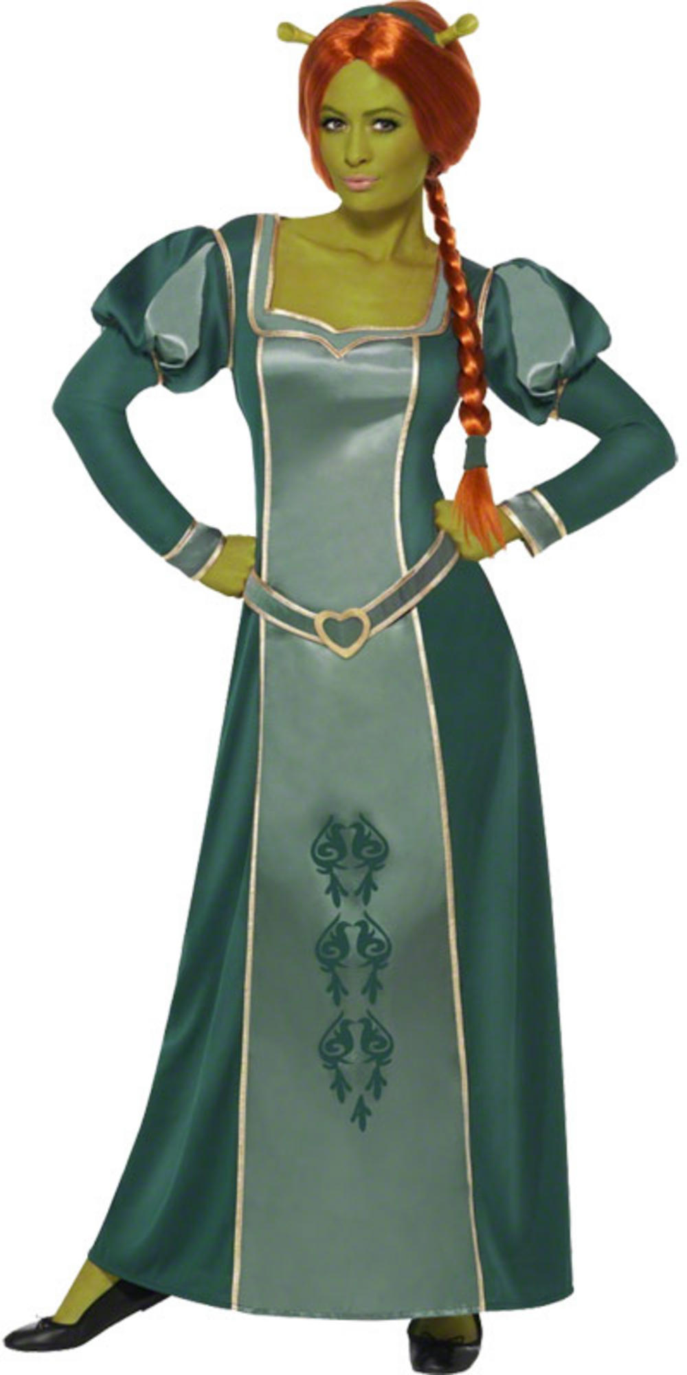 Ladies dream works shrek princess fiona fancy dress party - Princesse fiona ...