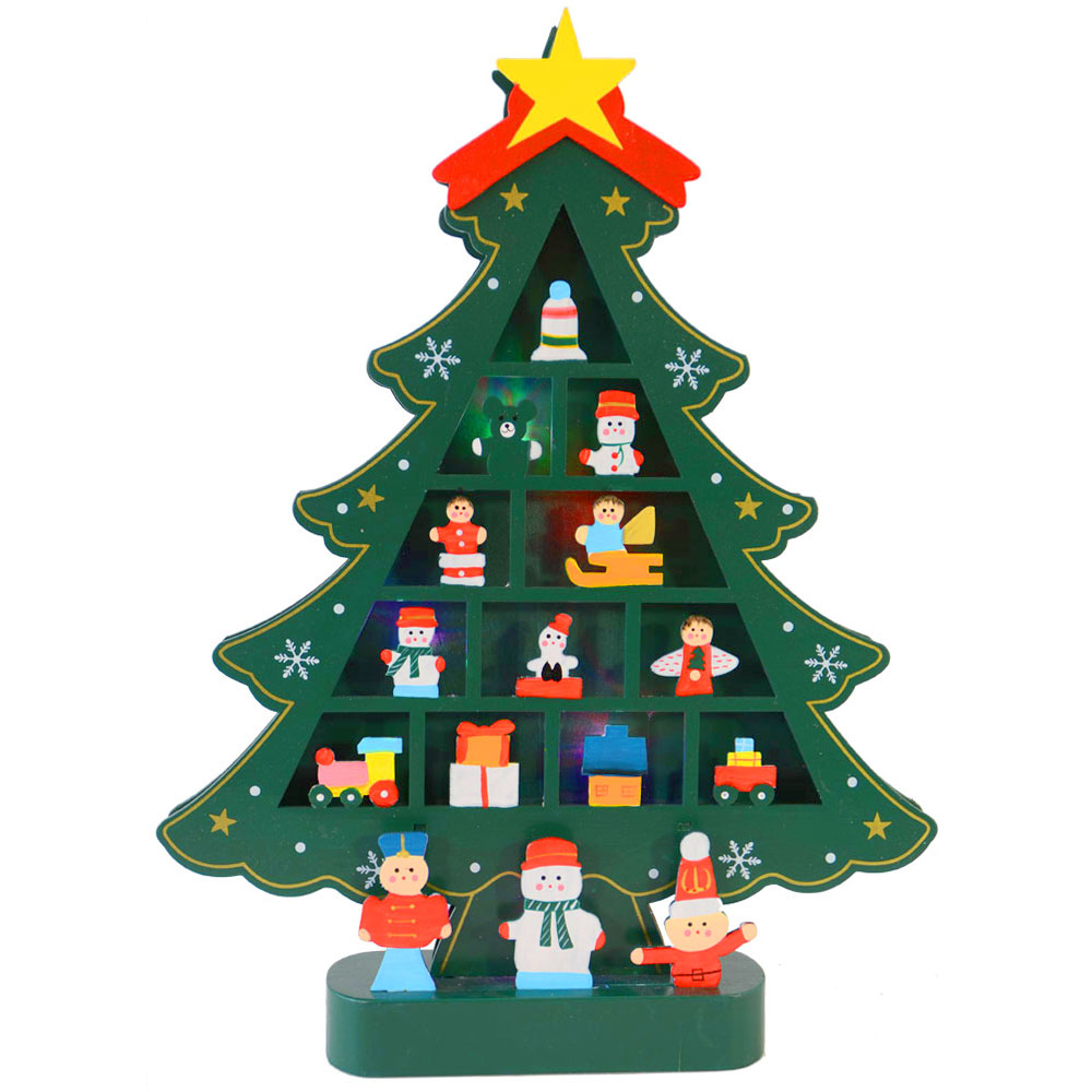 Christmas Tree With Toys : Christmas decoration beautiful green wooden tree with