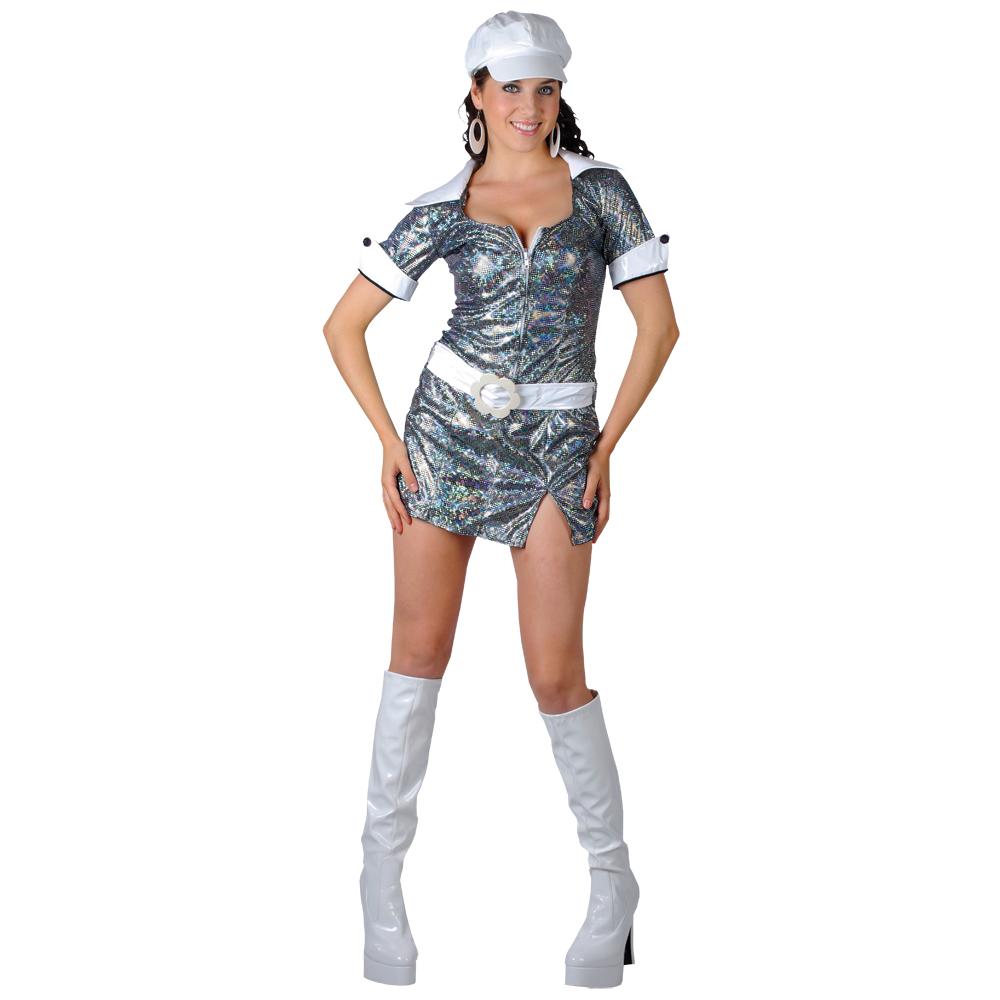New gogo honey 60s 70s style glitzy mini dress fancy dress halloween
