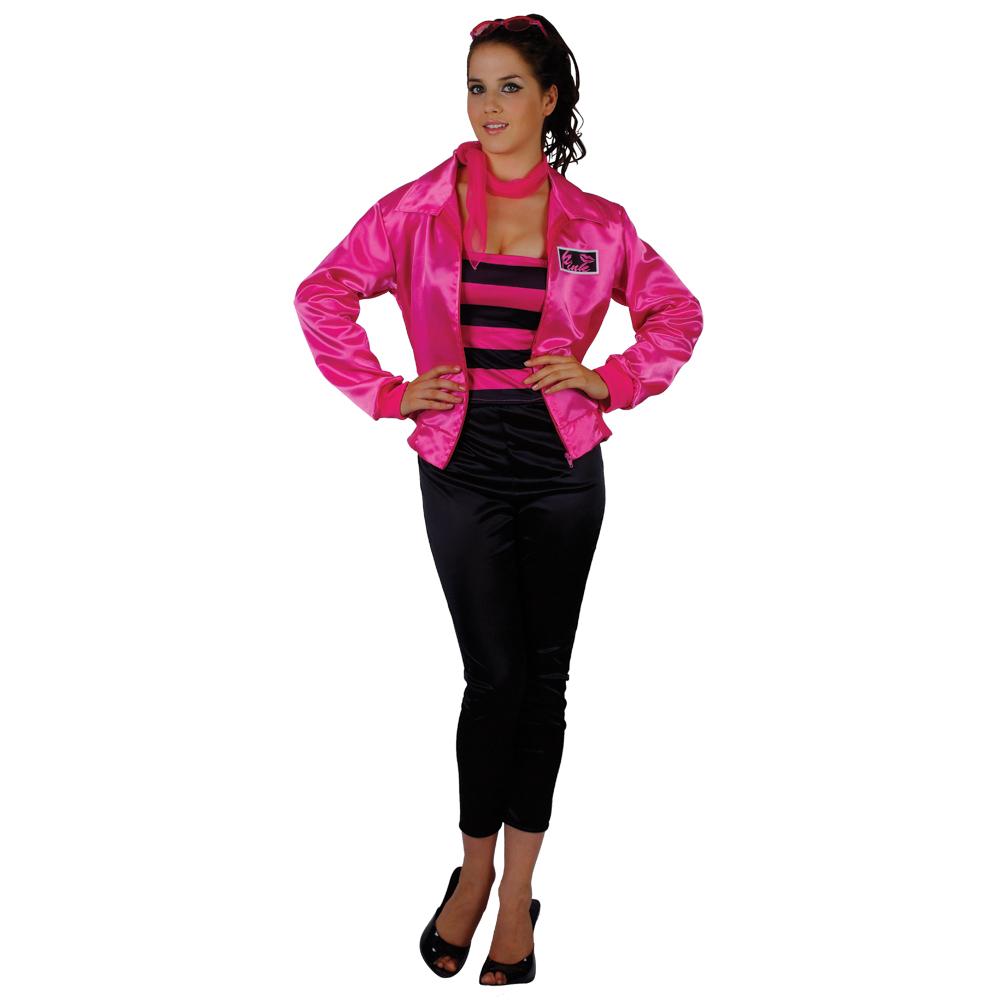 Grease Theme 1950s Pink T-Bird Cutie Ladies fancy Dress Party Halloween Costume   eBay