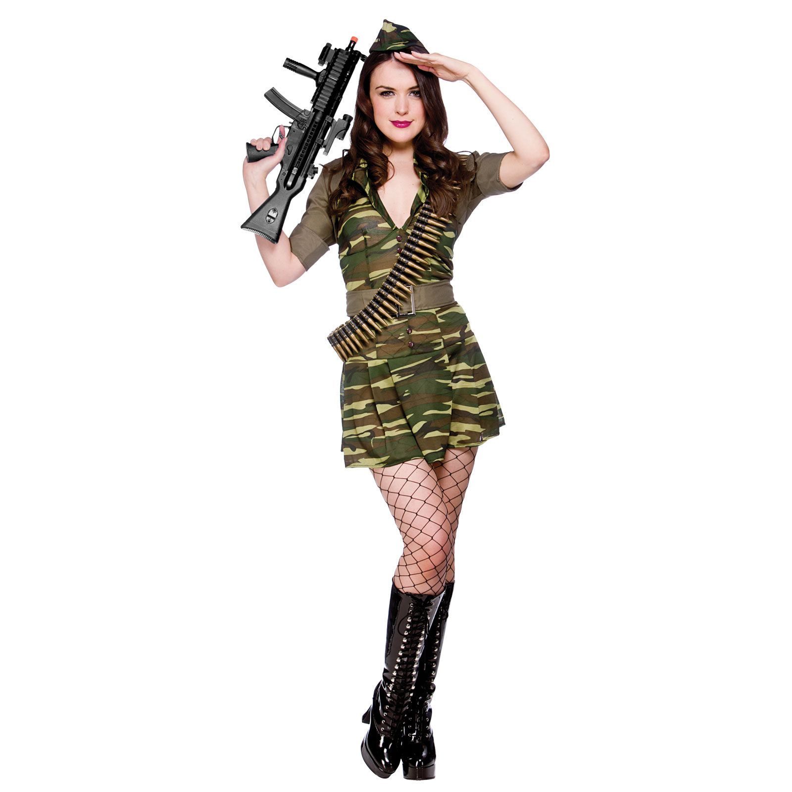 Sexy Army Soldier Combat Girl Private Tease Fancy Dress Party ...