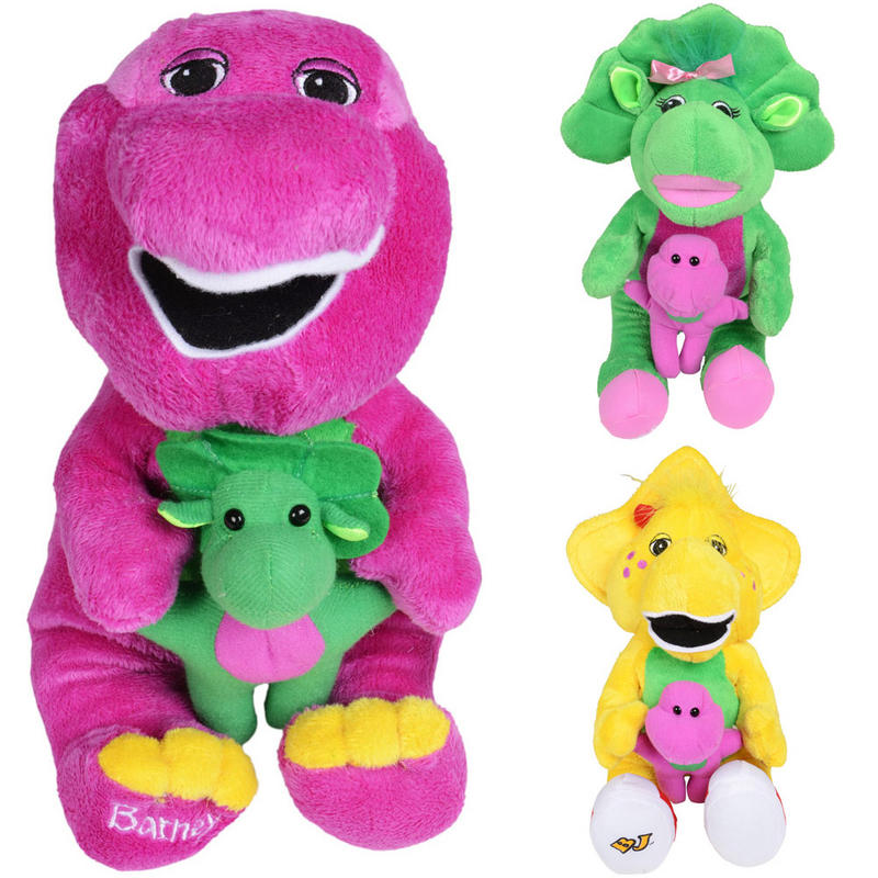 Plush cuddly barney and friends soft toy 30cm 38cm 12 quot 15 quot can stay in