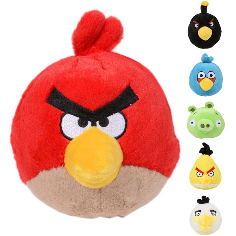 Anger Bird Toy : Cm quot angry birds character plush soft toy red blue