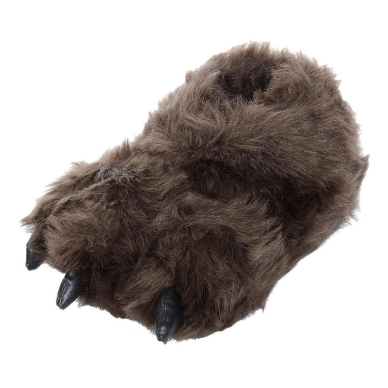 The bear feet slippers are the premiere way to keep your paws feet warm while you hibernate or walk around the house. These furry slippers envelop your feet in a fuzzy cloud of comfort and come equipped with a special non-slip sole to keep you from falling.