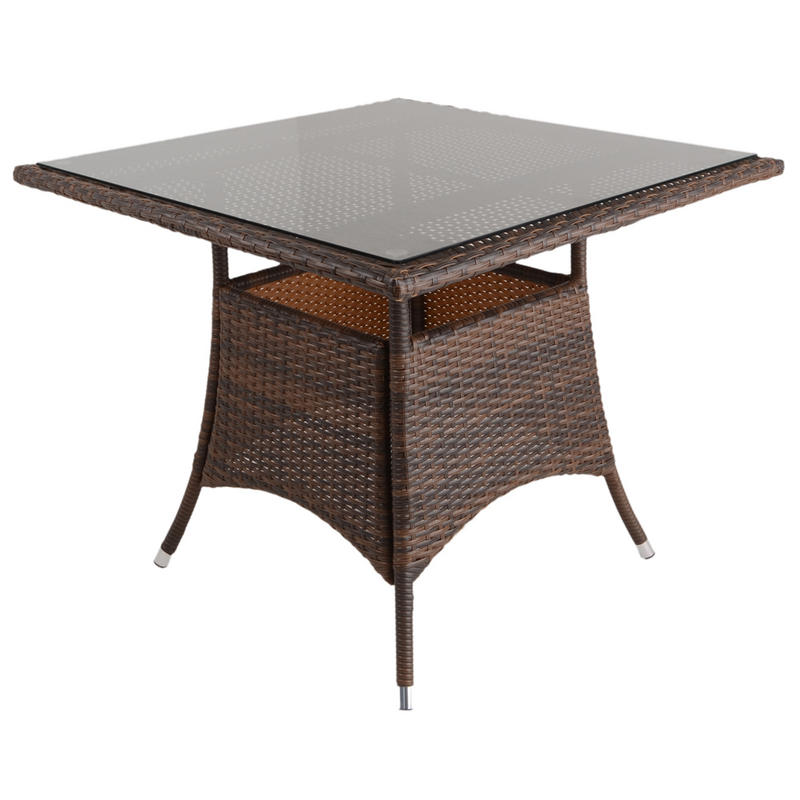 Azuma 5 Piece Brittany Wicker Rattan Dining Table Chair