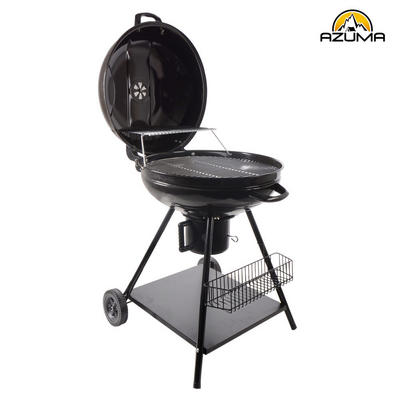 "22"" Azuma Outdoors Black Steel Charcoal Kettle BBQ Barbecue Garden Cooking Grill New Preview"