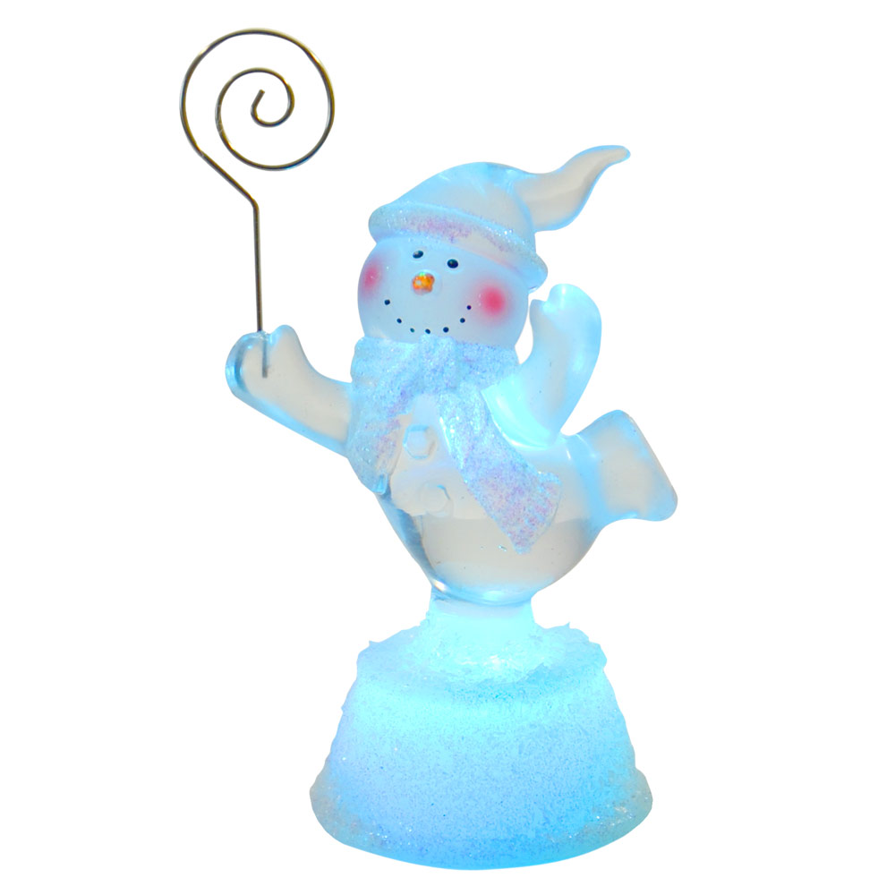LED-Light-Up-Colour-Changing-Snowman-Christmas-Card-Holder-Xmas-Decoration-New