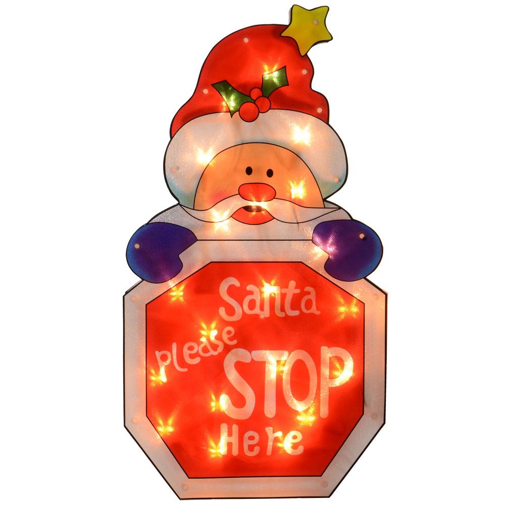 Glistening-Fairy-Light-Up-PVC-Christmas-Silhouette-Festive-Window-Decoration-New