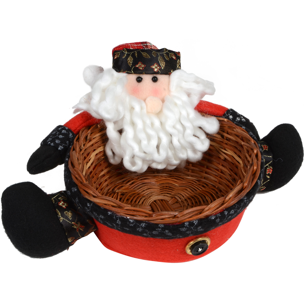 Quot christmas santa claus candy sweet wicker basket