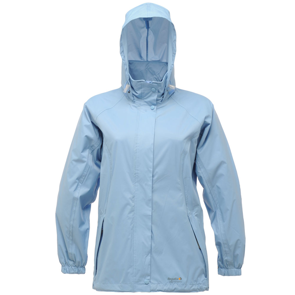 Regatta Ladies Joelle Lightweight Packaway Hooded Waterproof Jacket Rain Coat | eBay