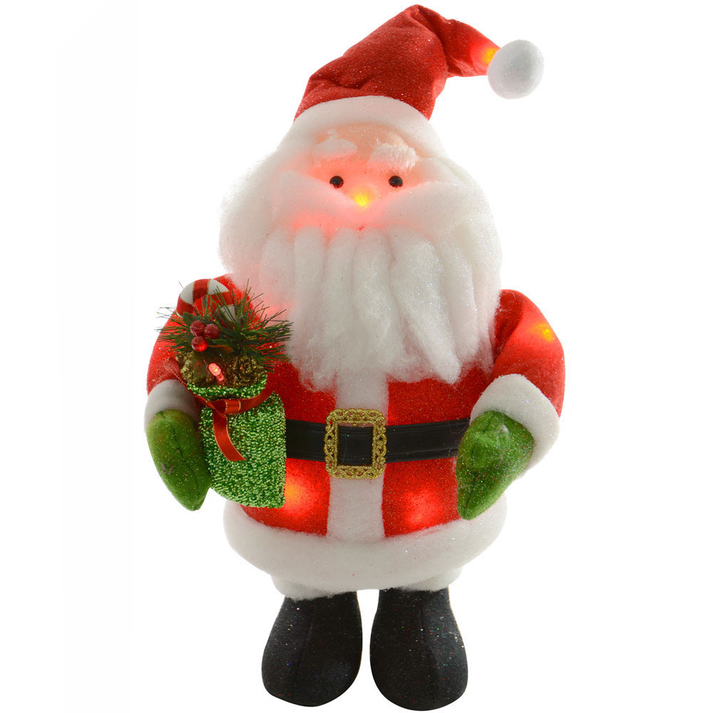 Santa Claus Decorations Uk: 41cm Battery Light Up Flashing Santa Claus Christmas