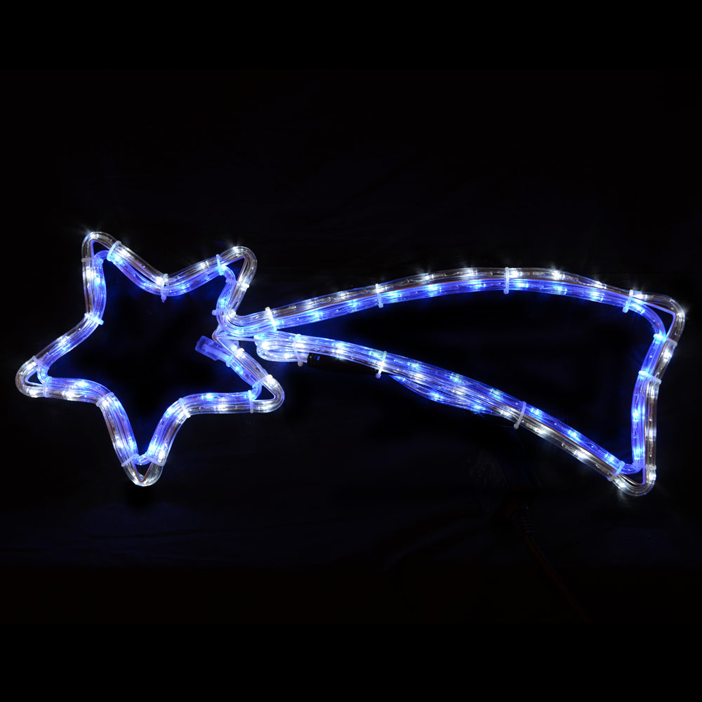 Colorado Shooting Light: Mains Voltage Christmas Shooting Star Blue & White LED