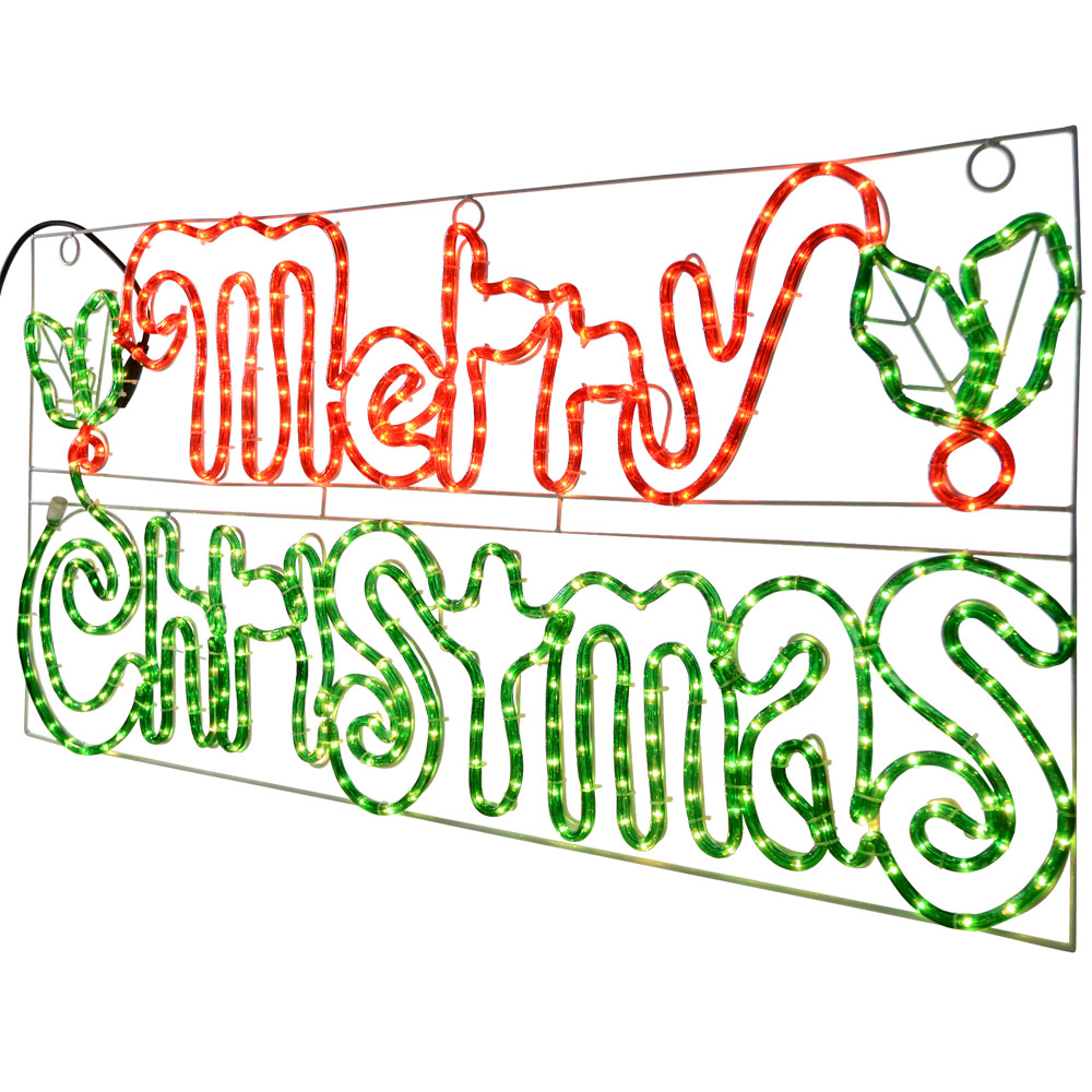 Top 28 light up merry christmas sign lighted christmas for Large outdoor christmas signs