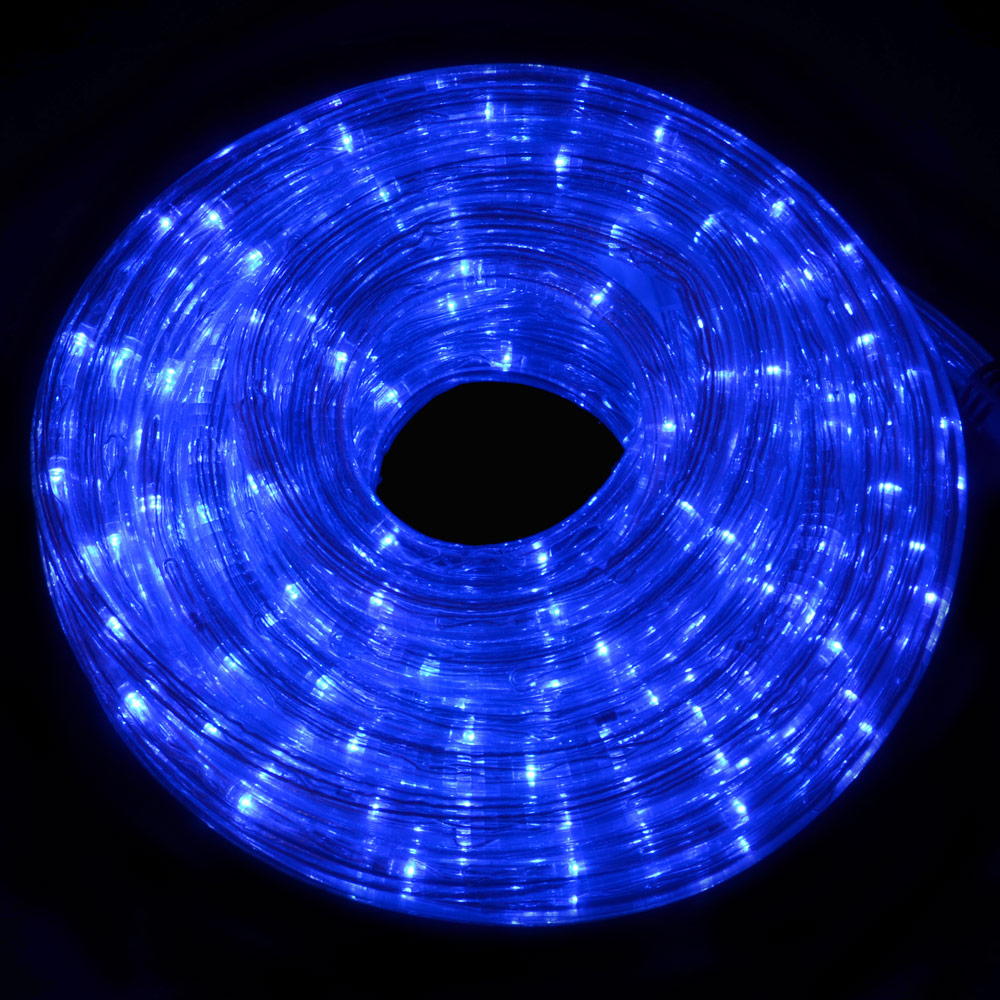 Festive Multi Action 6m Blue LED Christmas Indoor & Outdoor Rope Lights