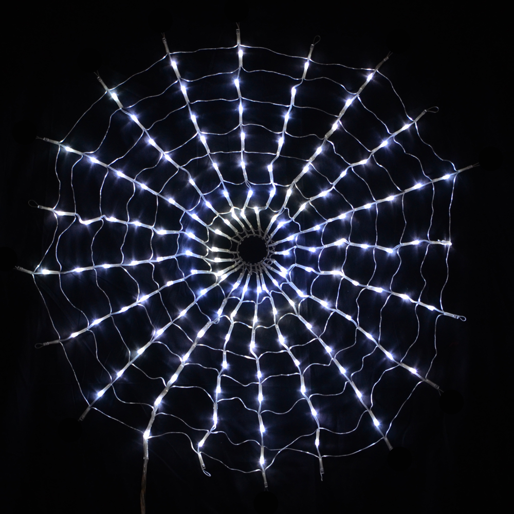 160 LED Multi Function White Spiders Web Net Lights ...