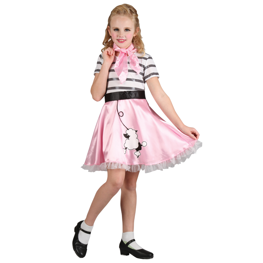 Girls Retro 50 39 S Fifties Bopper Girl Fashion Fancy Dress