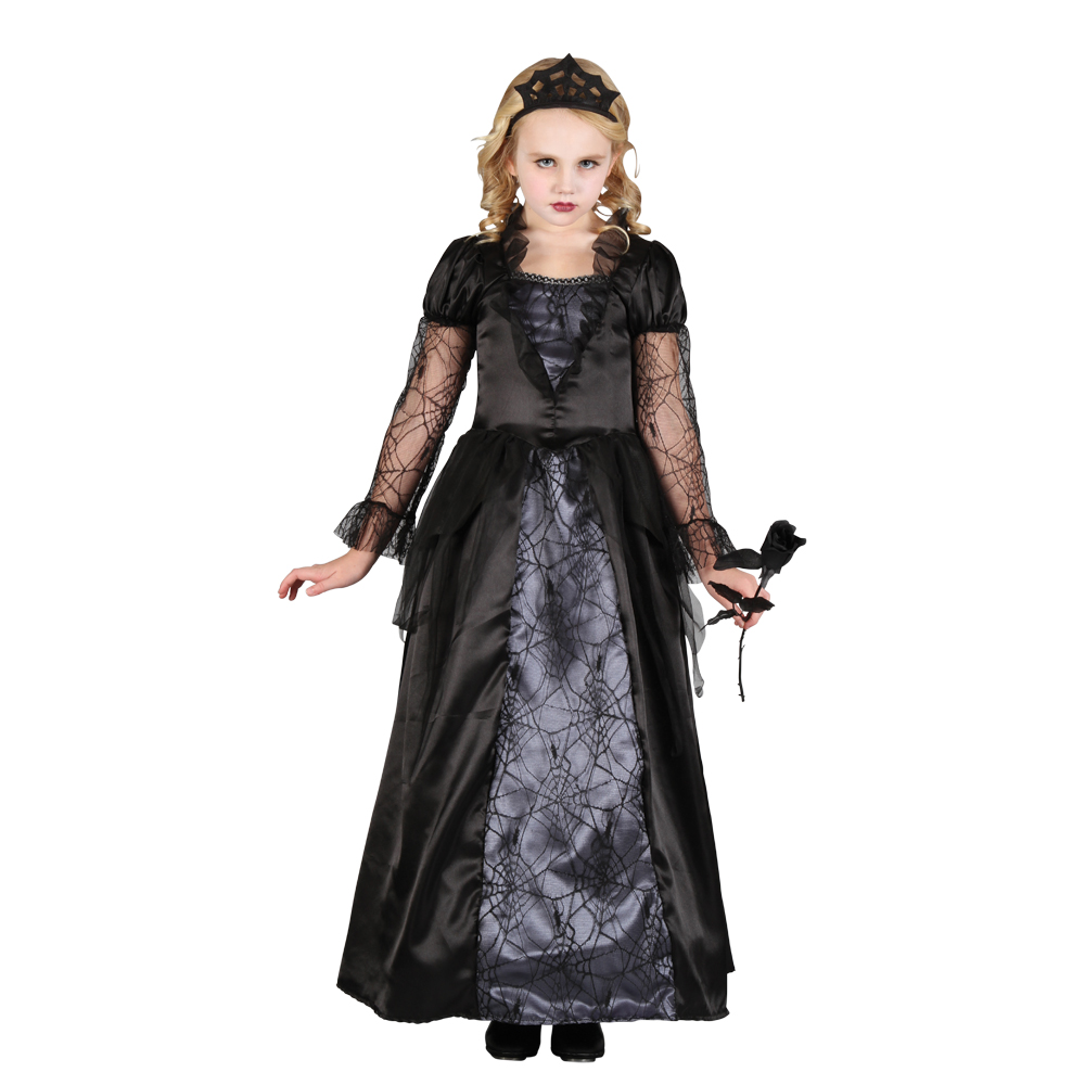 Deluxe Girls Wicked Queen Evil Halloween Horror Fancy Dress Kids ...