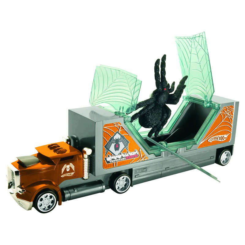 Mattel-Hot-Wheels-Creature-Rigs-Truck-Lorry-Transporter-With-Spider-Or-Shark-New