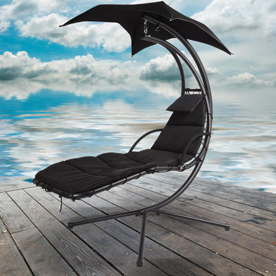 Azuma Dream Chair Swing Hammock Garden Furniture Sun Seat Relaxer Chair - Black Preview