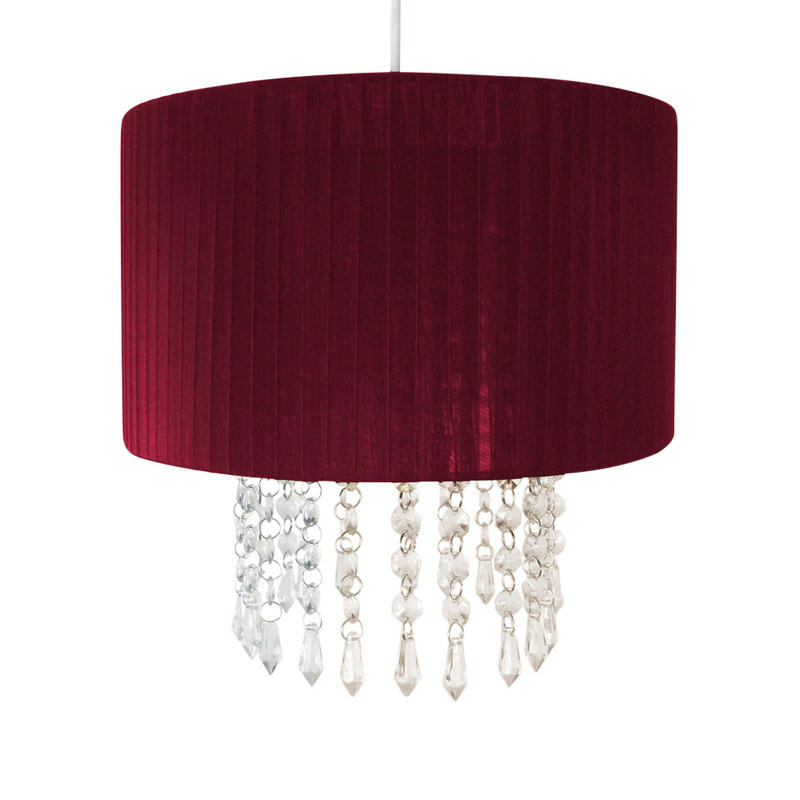 Red Acrylic Chandelier: Easy Fit Chandelier Light Lamp Shade Fitting With Acrylic