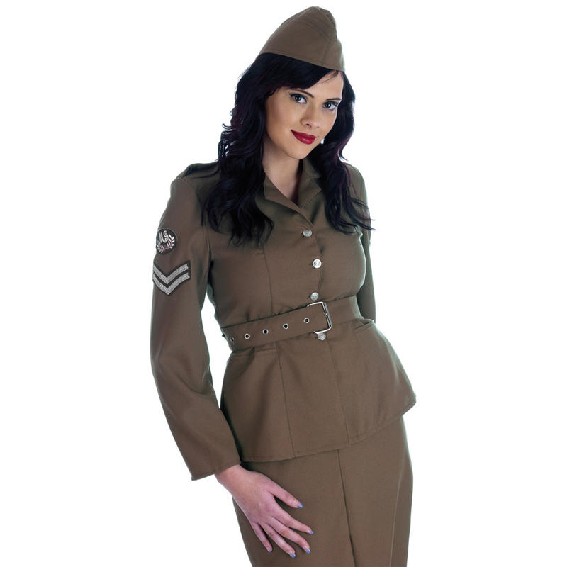 Lastest Navy Officer Costume 1940s Sailor Uniform Womens Ladies Fancy Dress