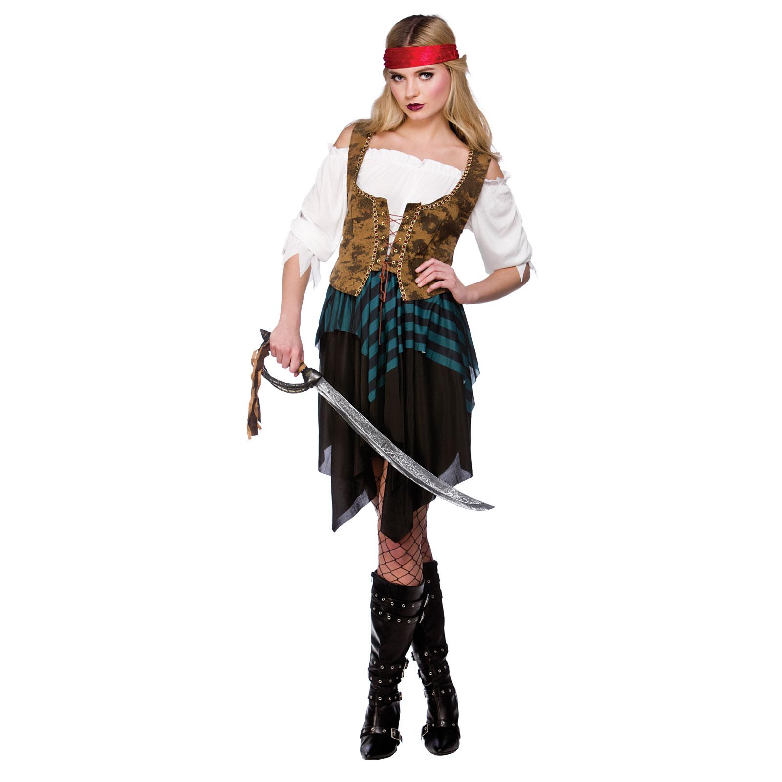 fluch der karibik piratin junggesellinnenabschied karneval halloween kost m xxl ebay. Black Bedroom Furniture Sets. Home Design Ideas