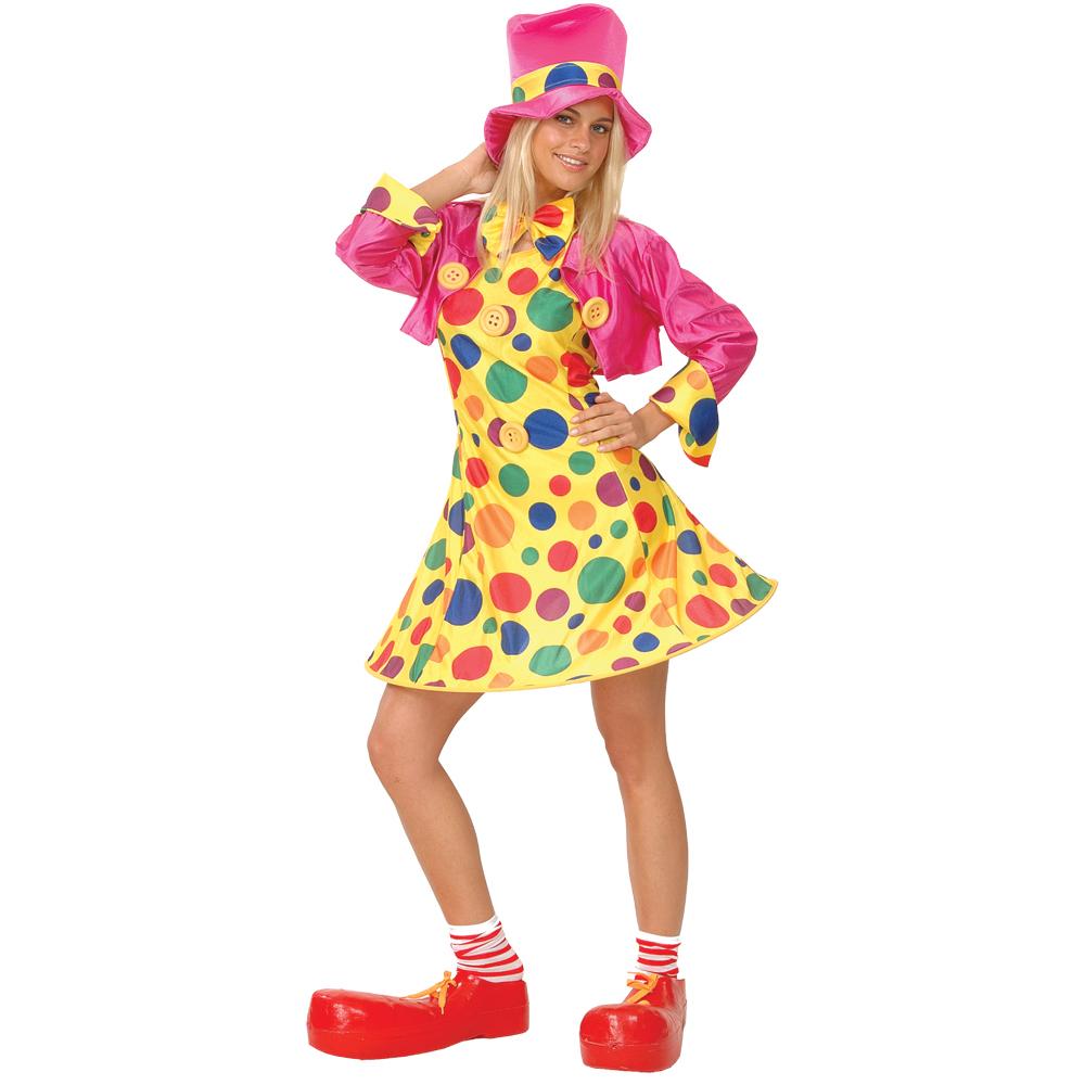 lustiger clown verkleidung f r frauen fasching karneval halloween kost m xs ebay. Black Bedroom Furniture Sets. Home Design Ideas