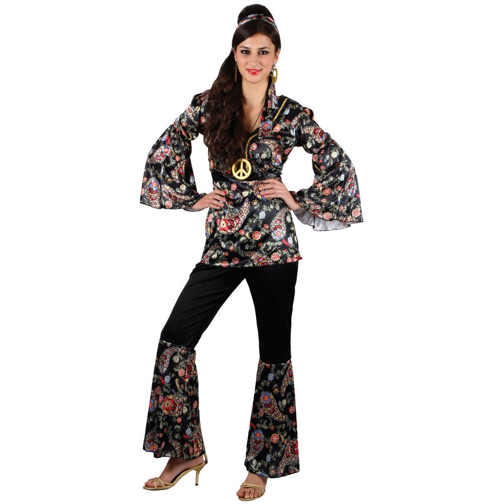 flower power hippie hippy verkleidung fasching karneval halloween kost m xxl ebay. Black Bedroom Furniture Sets. Home Design Ideas