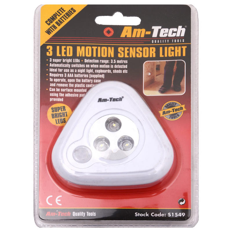 super bright led motion sensor light by am tech with surface. Black Bedroom Furniture Sets. Home Design Ideas