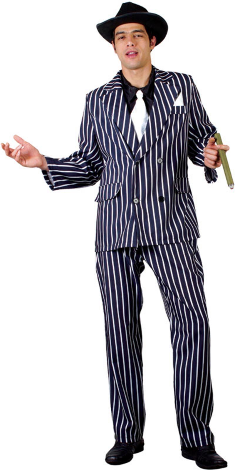 ... Mafia Gangster Godfather Fancy Dress Halloween Costume Thumbnail 2
