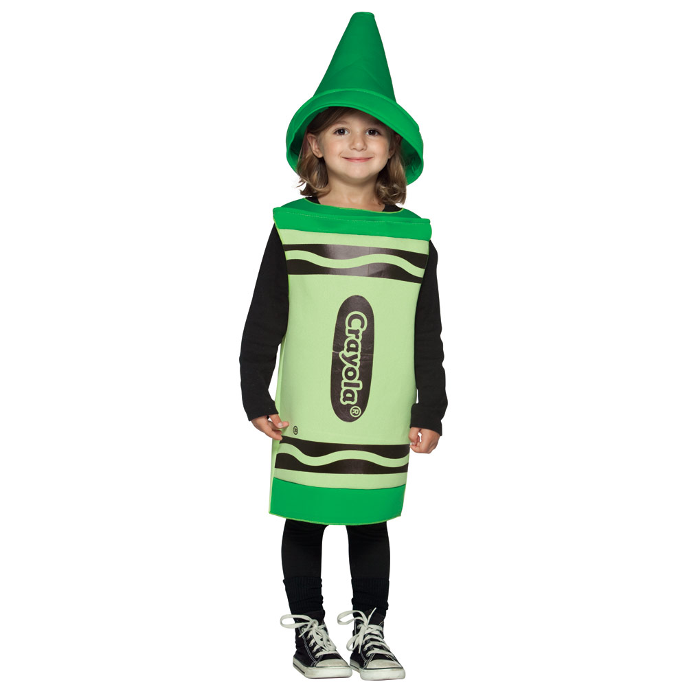 Kids Unisex Licensed Crayola Colouring Crayon Funny Fancy Dress